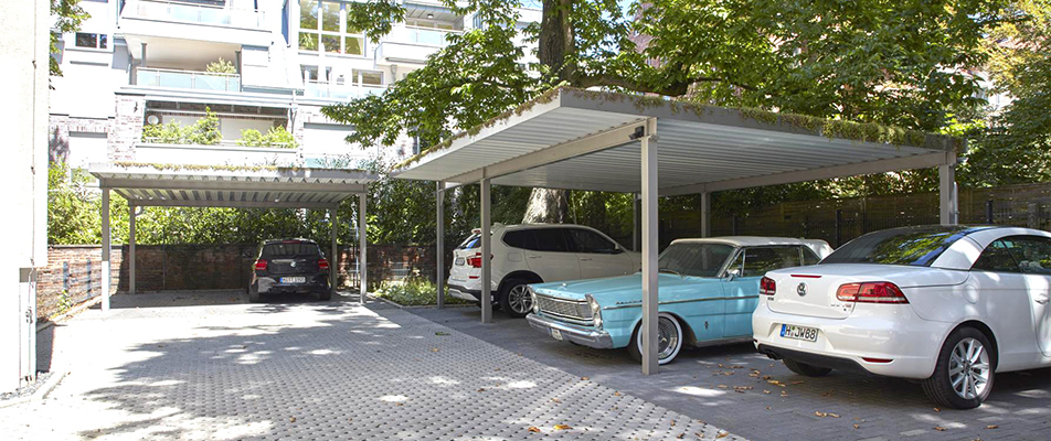 einhausung-carport-stahl System Housings with Roof